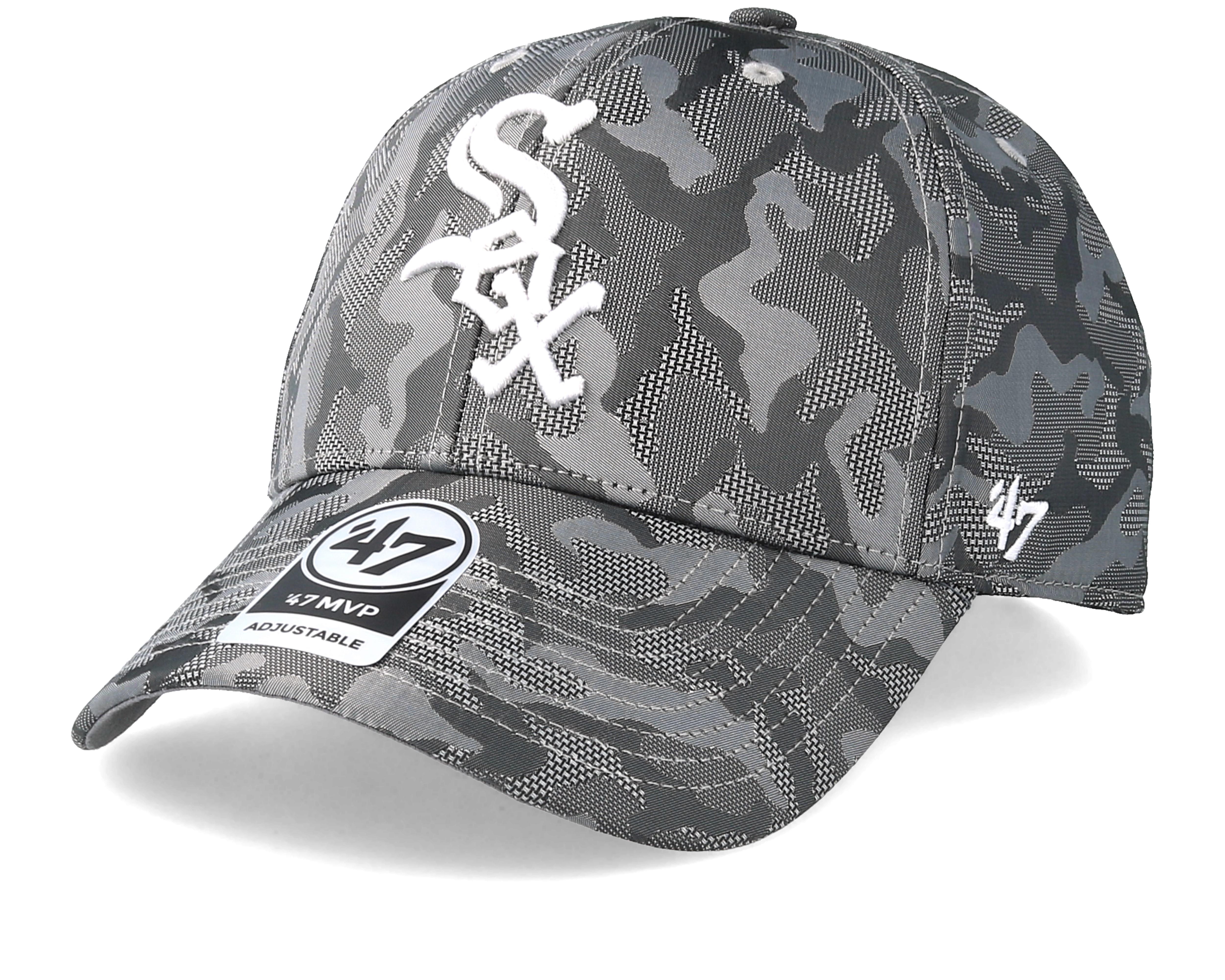 Chicago White Sox Smokelin Mvp Grey Camo Adjustable 47