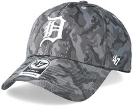 Detroit Tigers Smokelin Mvp Grey Camo Adjustable - 47 Brand