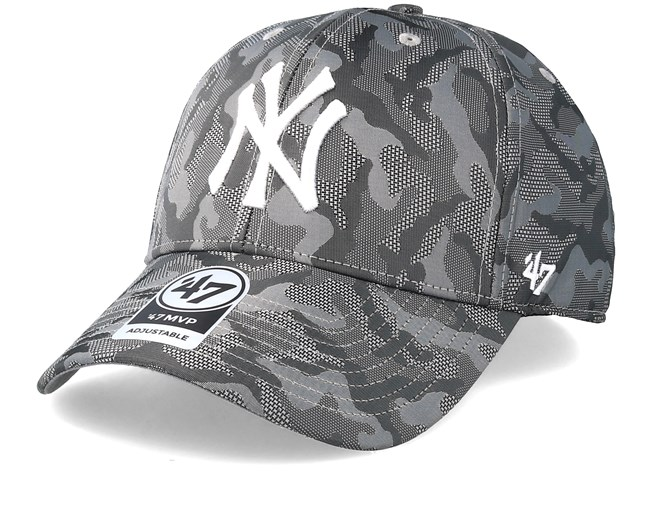 New York Yankees Smokelin Mvp Grey Camo Adjustable - 47 Brand caps -  Hatstoreworld.com 71834cfdd82