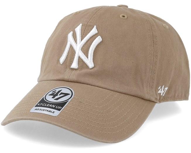 best website 7a425 b8606 New York Yankees Clean Up Khaki White Adjustable - 47 Brand caps -  Hatstoreworld.com