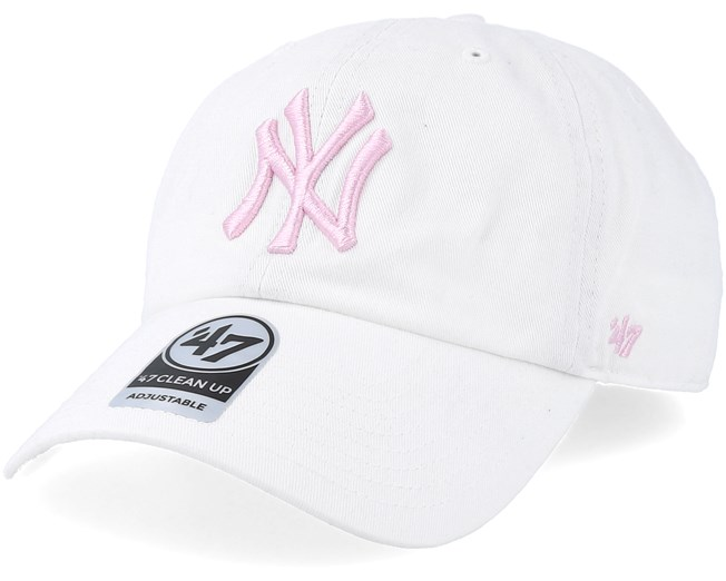 8fa06f597 New York Yankees Clean Up White/Petal Pink Adjustable - 47 Brand ...