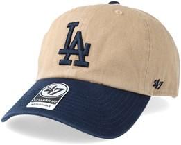 Los Angeles Dodgers Two Tone Khaki/Navy Adjustable - 47 Brand