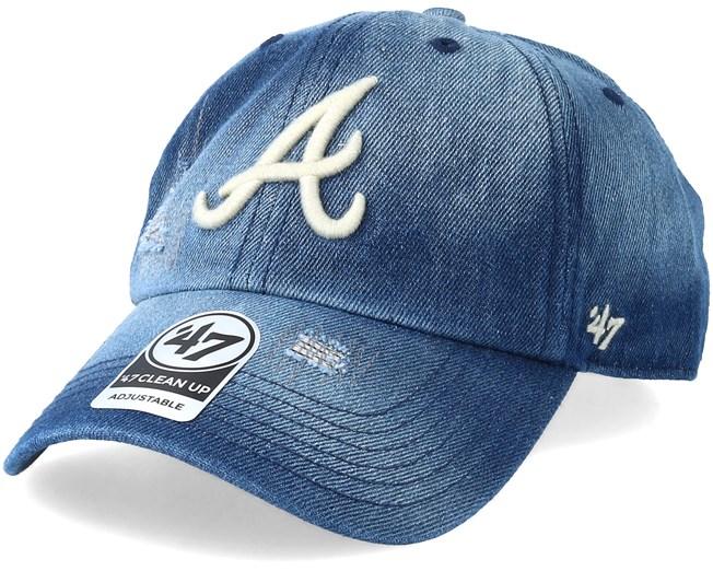 check out 15027 c6180 Atlanta Braves Loughlin Navy Adjustable - 47 Brand caps - Hatstoreworld.com
