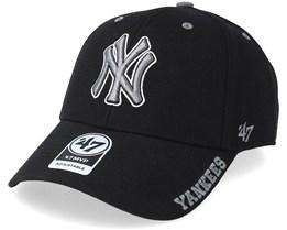 New York Yankees Defrost 47 Mvp Black/Grey Adjustable - 47 Brand