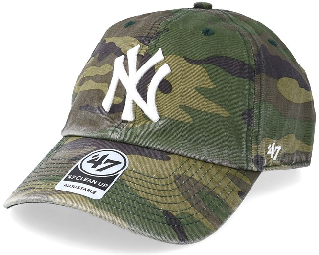 b14f34b8771d6 New York Yankees 47 Clean Up Camo White Adjustable - 47 Brand caps -  Hatstoreaustralia.com