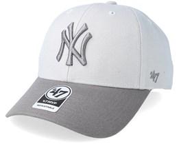 New York Yankees Two Tone Steel Grey Adjustable - 47 Brand