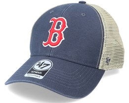 Boston Red Sox Flagship Wash Mvp Vintage Navy/Beige Trucker - 47 Brand