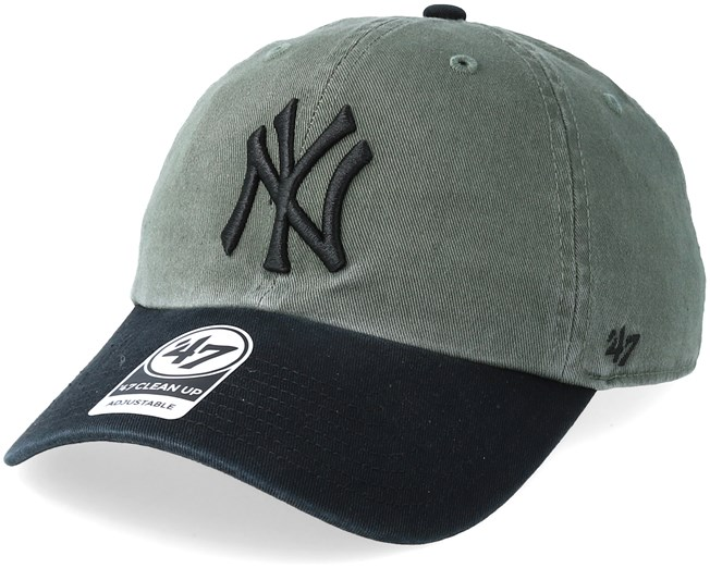 7a828499171 New York Yankees Clean Up Two Tone Moss Black Adjustable - 47 Brand cap -  Hatstore.co.in