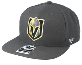 Vegas Golden Knights No Shot 47 Captain Charcoal/Gold Snapback - 47 Brand