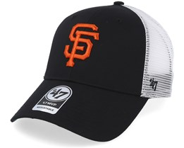 625b4093b57 San Francisco Giants Branson Mesh Black Trucker - 47 Brand