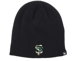 San Francisco Giants Camofill Black/Camo Beanie - 47 Brand