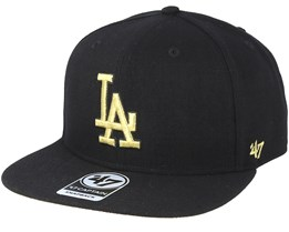 Los Angeles Dodgers Metal/Vise Black Snapback - 47 Brand
