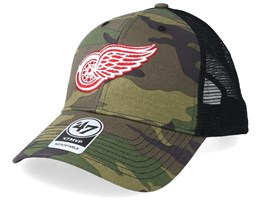 Detroit Red Wings 47 Mvp Camo/Black Trucker - 47 Brand