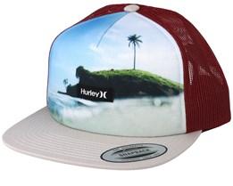 Mixtape Island/Burgundy/Beige Trucker - Hurley
