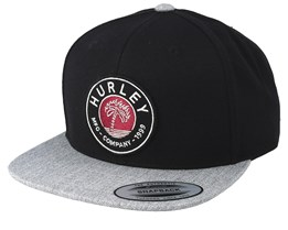 Paradise Burns Black/Heather Grey Snapback - Hurley