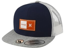 Kids Natural Navy/Heather Grey Trucker - Hurley