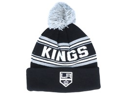 Los Angeles Kings Jacquard cuffed knit Black/Grey Pom - Outerstuff