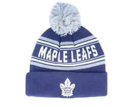Toronto Maple Leafs Jacquard cuffed knit Navy/Grey Pom - Outerstuff