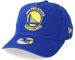 Golden State Warriors Washed Team A Frame Royal Adjustable - New Era