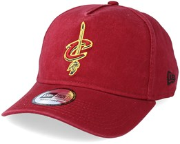 Cleveland Cavaliers Washed Team A Frame Cardinal Adjustable - New Era
