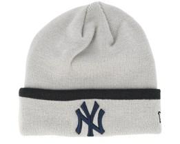 New York Yankees Team Knit Grey Cuff - New Era