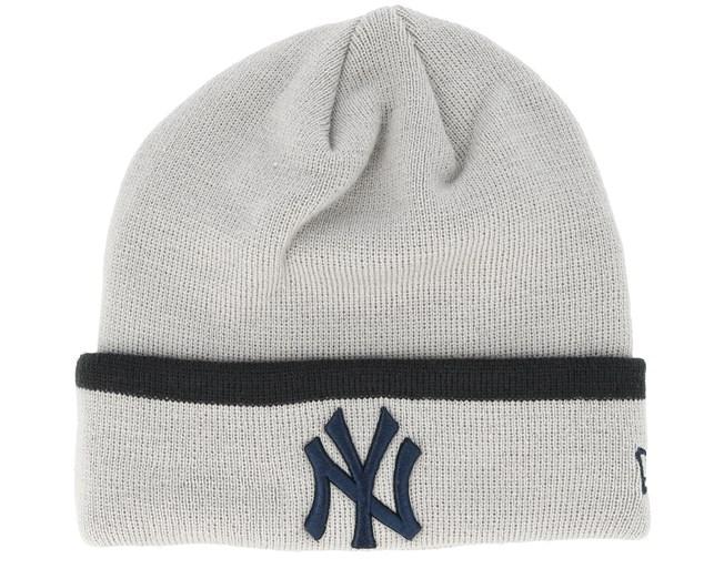 separation shoes 8113a c0c3a New York Yankees Team Knit Grey Cuff - New Era beanies - Hatstoreworld.com