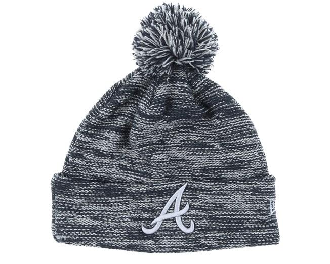 40a74bfef0a3b Atlanta Braves Marl Knit Grey/Black Pom - New Era beanies   Hatstore ...