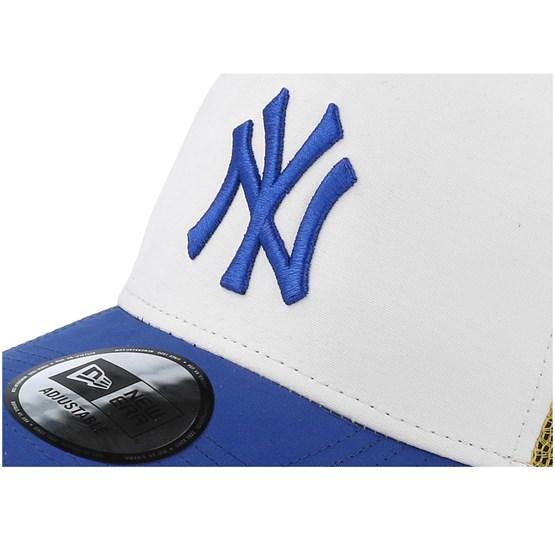 dfbd1a1fee6 New York Yankees Light Weight Nylon White Yellow Blue Trucker - New Era cap  - Hatstore.co.in