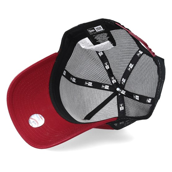 better timeless design available Los Angeles Dodgers League Essential Cardinal/White Trucker - New ...