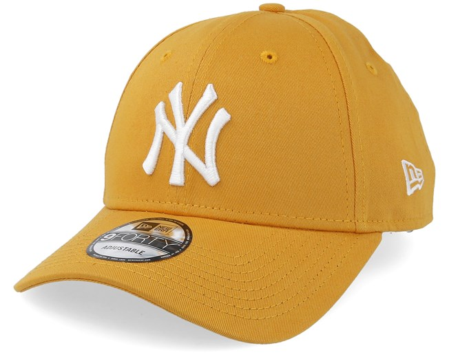 New York Yankees League Essential 9Forty Yellow White Adjustable - New Era  caps - Hatstoreworld.com 041bc20dc76