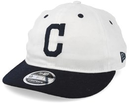 Cleveland Indians Low Profile 9Fifty Strapback White/Navy Strapback - New Era