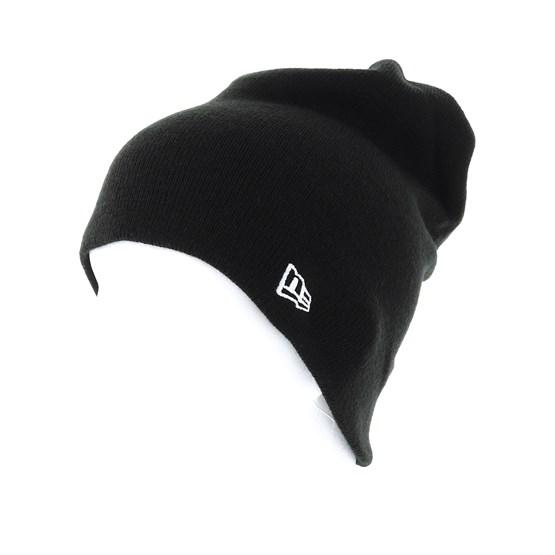 ed665793028 Essential Long Knit Black Beanie - New Era beanies - Hatstore.ae