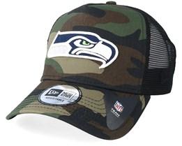 Seattle Seahawks Color Forest Camo Trucker - New Era