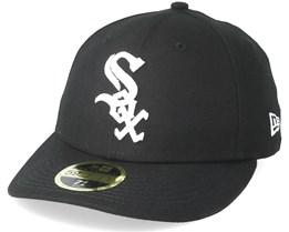 7149d5845da74 Chicago White Sox 59Fifty League Essential Black White Fitted - New Era