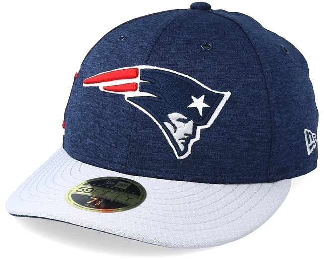 d80f934bce141b New England Patriots Low Pro 59Fifty Navy/Grey Fitted - New Era caps ...