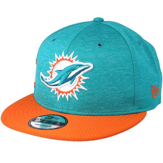 Keps Miami Dolphins 9Fifty On Field Teal/Orange Snapback - New Era - Blå Snapback