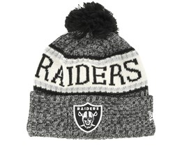 Oakland Raiders Sport Knit Black Pom - New Era