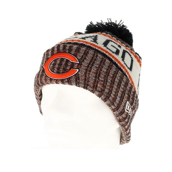 Chicago Bears Sport Knit Orange Pom - New Era beanie - Hatstore.co.in 981dc89a7753