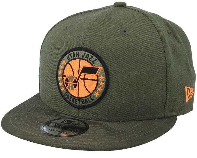 e6afc74dc4a Utah Jazz Tipoff Series 9Fifty Olive Snapback - New Era caps -  Hatstoreworld.com