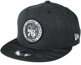 Philadelphia 76ers Tipoff Series 9Fifty Heather Black Snapback - New Era