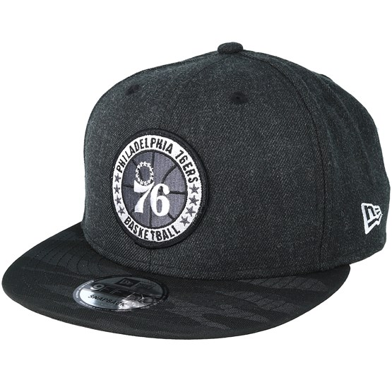 Keps Philadelphia 76ers Tipoff Series 9Fifty Heather Black Snapback - New Era - Svart Snapback
