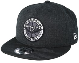 New Orleans Pelicans Tipoff Series 9Fifty Heather Black Snapback - New Era