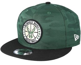 Milwaukee Bucks Tipoff Series 9Fifty Camo Green Snapback - New Era
