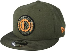 Denver Nuggets Tipoff Series 9Fifty Olive Heather Black Snapback - New Era