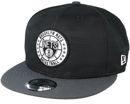 Brooklyn Nets Tipoff Series 9Fifty Camo Black Snapback - New Era