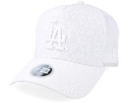 Los Angeles Dodgers Women Leopard De White Trucker - New Era