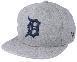 Detroit Tigers Winter Utility Melton 9Fifty Gray/Navy Snapback - New Era