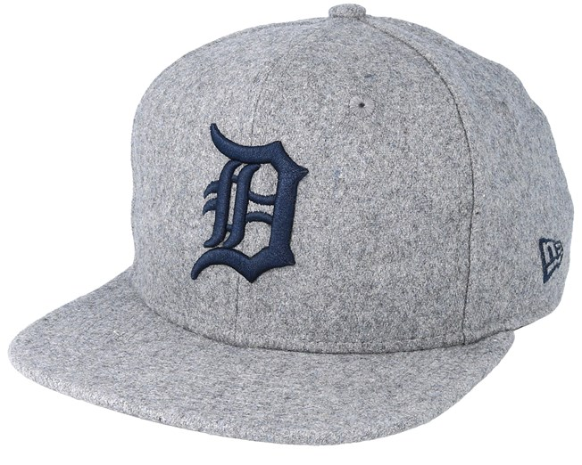 24122cd5c8e2da Detroit Tigers Winter Utility Melton 9Fifty Gray/Navy Snapback - New Era