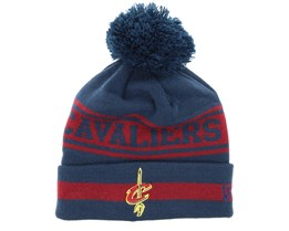 Cleveland Cavaliers Team Jake Navy/Burgundy Pom - New Era