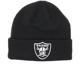 Oakland Raiders Team Essential Knit Black/White Cuff - New Era
